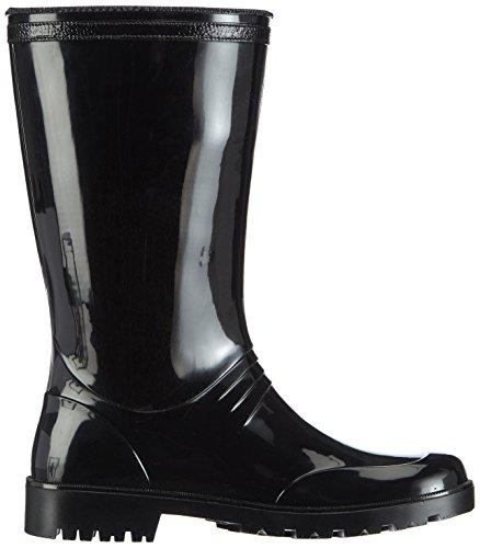 Chuva  IRIS DAMESLAARS PVC, Bottes en caoutchouc de hauteur moyenne, non doublées femmes Noir - Schwarz (Schwarz(Zwart) 00)