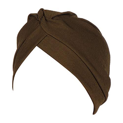 Barlingrock Women Head Wrap Kopftuch Muslimisches Kopftuch Ruffle Cancer Chemo Cap Reversible Cloche Hut