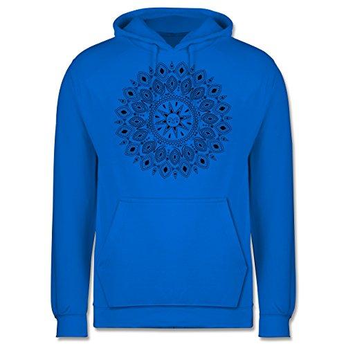 Boheme Look - Boho Mandala Yoga Sketch - Herren Hoodie Himmelblau