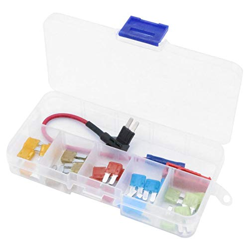 Add-a-Circuit Fuse Tap Adapter Kit mit 5A 7,5A 10A 15A 20A Micro2 Sicherungen + Clip Fuse Clip Kit
