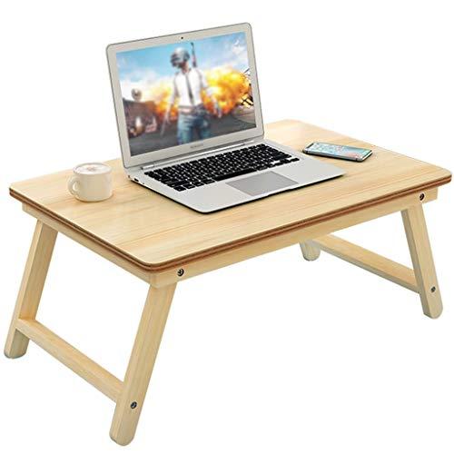 SISIZHANG Bettablage Bettablage mit Beinen Laptop Klapptisch Bett mit Schreibtisch Massivholz Klapptisch Sofa Kleiner Tisch Student Dormitory Study Table (Color : Natural, Size : 60 * 30CM) -
