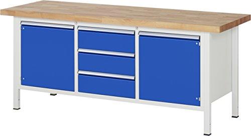 RAU Werkbank Serie 8000 - Gestell-Bauweise (Schweißgestell), 1 Stück, lichtgrau/ enzianblau, 03 8569A2-207B4S.11