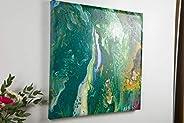 "Pittura acrilica | Nome della pittura ""Meereswelt"" | arte moderna | 45 cm x 45 cm"