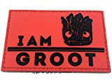 Patch Nation I Am Groot PVC Airsoft Paintball Klett Moral Flicken (Rot)