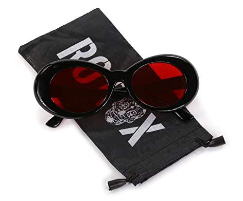 Ro Rox Gafas Sol Clout Kurt Cobain Retro Grunge Rojo