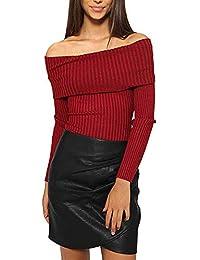 Suéter de BaZhaHei, Suéter Tipo Jersey con Cuello Ajustado Tops de Camisas de Abrigos de
