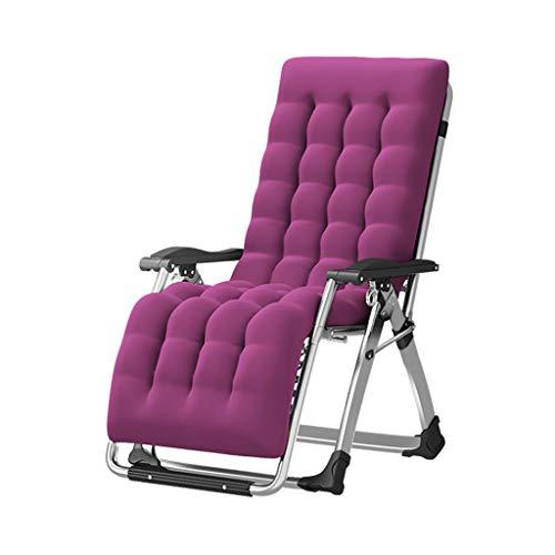 Pliant Balcon Inclinable Bain De Soleil Ancienne Chaise Chaise Maison Femme Enceinte Chaise Déjeuner Lit Spécial Épais Carré Tube Renforcement Renforcement (Couleur : Pink)