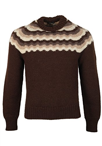 CL - TOM FORD Brown Crew Neck Sweater Size 48   38R U.S. In Wool e86170616ed7e
