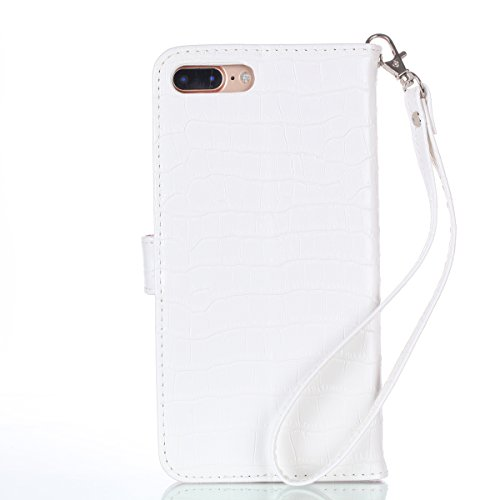 Custodia-iPhone-7-Plus-Cover-iPhone-7-Plus-JAWSEU-Apple-iPhone-7-Plus-55-Custodia-Cover-Shock-Absorption-Coccodrillo-Lusso-Portafoglio-Pell-Custodia-per-iPhone-7-Plus-Leather-Flip-Cover-con-Morbido-Si