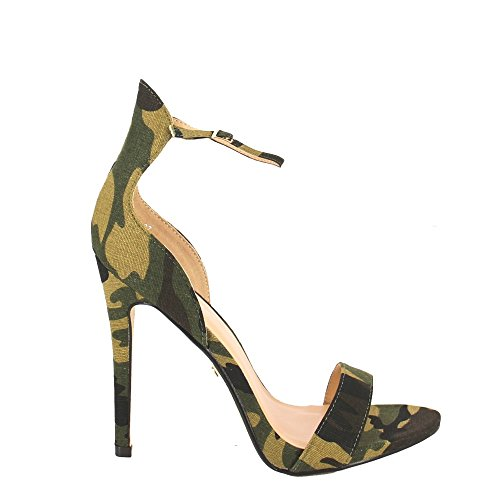 Ideal Shoes, Damen Sandalen militaire