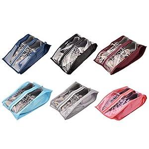 41C7Olwfn0L. SS300  - Portátil bolsas de zapatos de viaje multifuncional oxford zapatos almacenamiento y organización con cierre de cremallera…