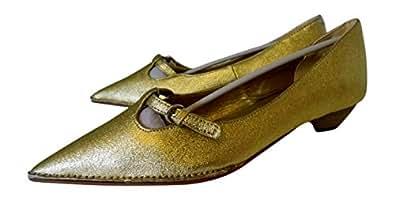 Angli Boucle Or-dérapant sur-Chaussures Talons Hauts-Taille UK 6 EU 39 neuf Paillasson stoppant les saletés