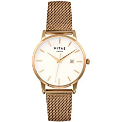 Gold Walmer 40mm Watch by Vitae London