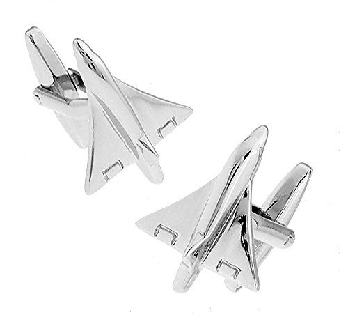 Ashton and Finch Mach 1 Flugzeug Manschettenknöpfe in Einer luxuriösen Präsentationsbox. Neuheit, Flugzeug, Flugzeuge, Luftwaffe Thema Schmuck