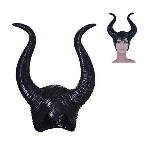 Xsj Gruselige Neuheit Creepy Genuine Latex Maleficent Horns Frauen Halloween Party Kostüm Jolie Cosplay Party Liefert Hut