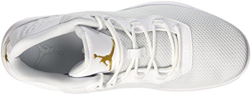 Nike Jordan Academy, Scarpe da Basket Uomo Blanco (White / Mtlc Gold Coin-Pure Platinum)
