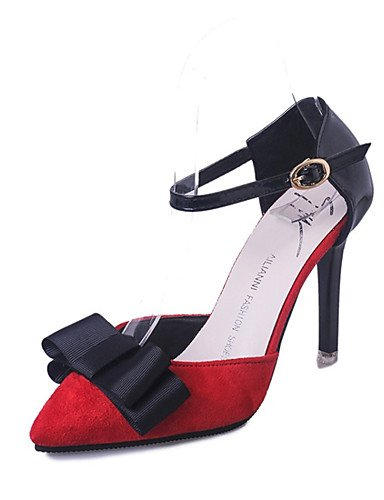 GS~LY Da donna-Tacchi-Formale-Tacchi / A punta-A stiletto-Sintetico-Nero / Verde / Rosso red-us8 / eu39 / uk6 / cn39