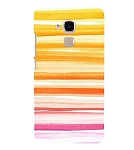 PrintVisa Summer Color Block Pattern 3D Hard Polycarbonate Designer Back Case Cover for HONOR 5C