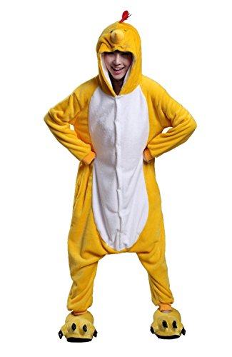 Street Kostüm Fighter Cosplay - Honeystore Unisex Erwachsene Tier Kostüme Cosplay Pajama Huhn Siamesische Kleidung Nachtwäsche XL