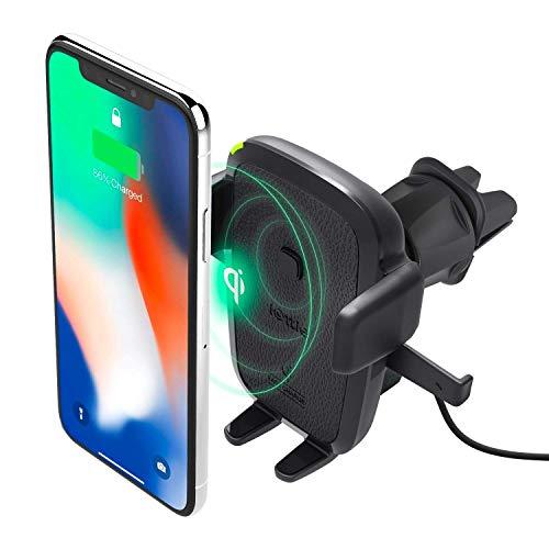 Oferta de iOttie Easy One Touch - Cargador inalámbrico Qi para Samsung Galaxy, Note 9, iPhone y Dispositivos Qi, Cargador Doble, HLCRIO135AM