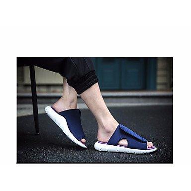 Slippers & amp da uomo;Sandali Comfort PU Primavera Casual Blu Rosso Nero Bianco sandali US8 / EU40 / UK7 / CN41