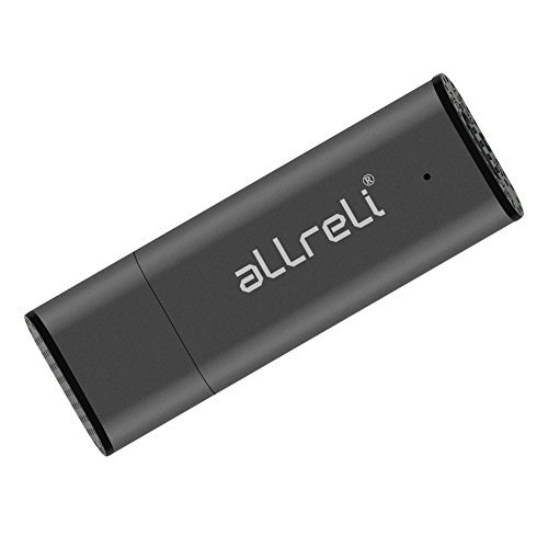 [Upgraded Version] aLLreLi CP00341 8GB USB Digital Voice Recorder for Mac & PC - Portable Rechargeable Spy Pen, USB Flash Drive for Recording Interviews, Meetings and Students Learning - Gray  available at amazon for Rs.2049
