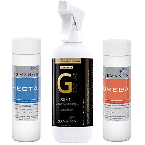PERMANON Set: Spüle aus Granit reinigen & pflegen, für z.B. Blanco Silgranit Spülen | Reiniger + Versiegelung für Granitspüle