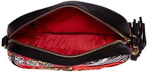 Desigual Bols_charlote Tsukiflo - Borse a tracolla Donna, Schwarz (Negro), 20x15x7 cm (L x H D)