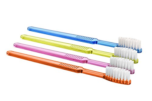 Einmalzahnbürsten mit Zahnpasta Akzenta Farbe orange Einwegzahnbürste (10 Stück)