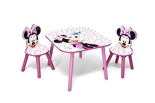 Delta Minnie Mouse Kleiner Tisch und Stühle (Rosa)