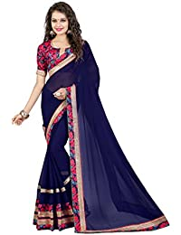 Oomph! Women's Chiffon Saree With Blouse Piece