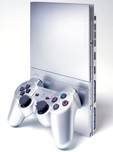 PlayStation 2 - PS2 Konsole Slim, silber