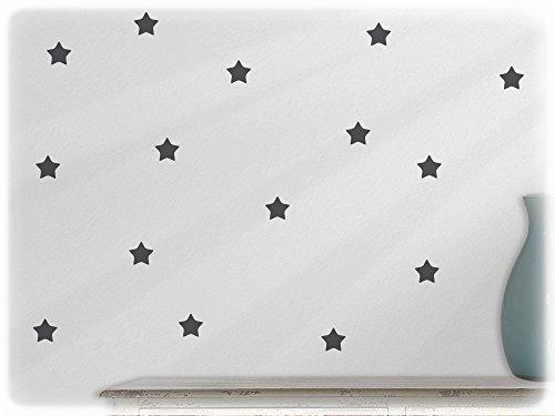 Preisvergleich Produktbild wandfabrik - Wandtattoo - 60 tolle Sterne in dunkelgrau