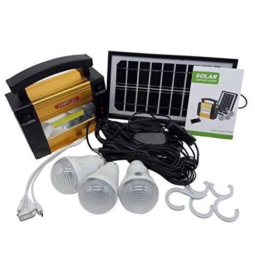 Características:  Generador solar multifuncional, carga solar. Protección del medio ambiente y ahorro de energía.Puede usarlo en cualquier lugar cuando haya sol. Ideal para iluminación interior, iluminación exterior, falla de energía, iluminación ...