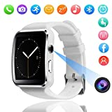smart watch Bluetooth X6, SchrittzäHler SchlafüBerwachung Kalorien SIM-Kartensteckplatz, Wasserdicht Smart Armband FüR Android Und Ios-Zwei Farben Optional