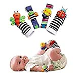 Best Toys For 6 Month Old Girls - SMTF Cute Animal Soft Baby Socks Toys Wrist Review