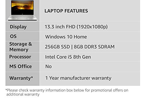 HP Envy Intel Core i5 8th Gen 13.3-inch FHD Thin...
