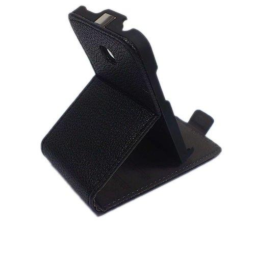 handy-point Aufstellfunktion + Klapptasche Klapphülle Tasche Hülle Schutzhülle Flip Case für LG Optimus L3 2 in Schwarz (Handy Case Lg Optimus)