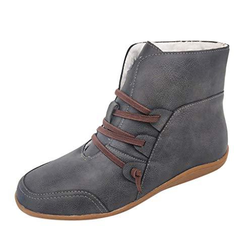 Sanahy Ankle Boot Damen Winter Schuhe Mixed Adult Futter Warme Schneeschuhe Kunstpelz wasserdichte Winterstiefel
