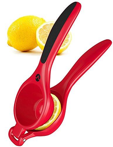 Romote Lemon Squeezer Presse - Handmetall Lime Zitruspresse Squeezer mit ergonomischem Silikon Griff Gri (Kalk Werfen)