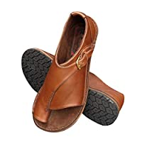 Ablita Women Comfy Buckle Strap Flat Heel Sandal Shoes Summer Beach Shoes for Travel