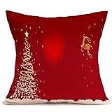 Riou Kissenbezuge Weihnachten Kissenhülle Dekokissen Throw Pillow Covers Bettwäsche Für Autos Sofakissen Startseite Dekorative Weihnachten Sofa Bett Home Decor Kissen Kissenbezug (mehrfarbig h, 45x45cm)