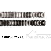 Dresselhaus Gewindestange Gewinde: M8 1 Stück / A2 Edelstahl DIN 975/976 / Länge 1000mm