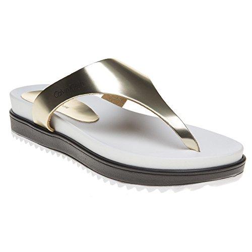Calvin Klein Jeans Ginevra Femme Sandales Metallic metallic
