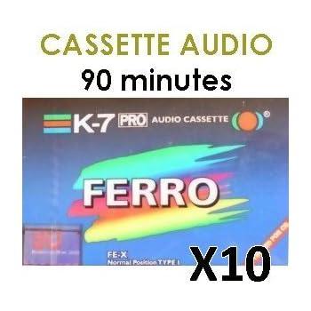 Cassette AUDIO vierge 90 minutes - Achat par X 10