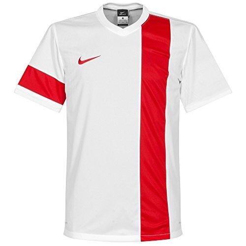 Nike-Maglia a manica corta Striker IV, Uomo, Short Sleeve Top Striker III Jersey, Bianco / Rosso, 3XL