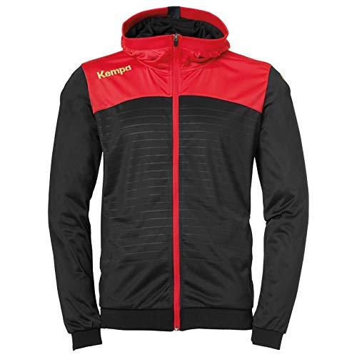 Kempa Herren Emotion 2.0 Kapuzenjacke Jacke, schwarz/Rot/Gelb, XL