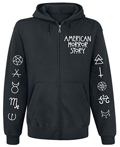 American Horror Story Normal People Sweat à capuche zippé noir L