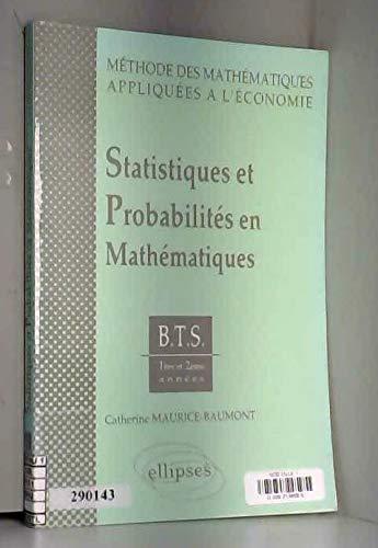 Statistiques et probabilités en mathématiques, tome 1