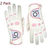 Guantes de golf suaves para mujer, de Finger Ten, en talla S, M, XL, Medium---Worn on Right Hand